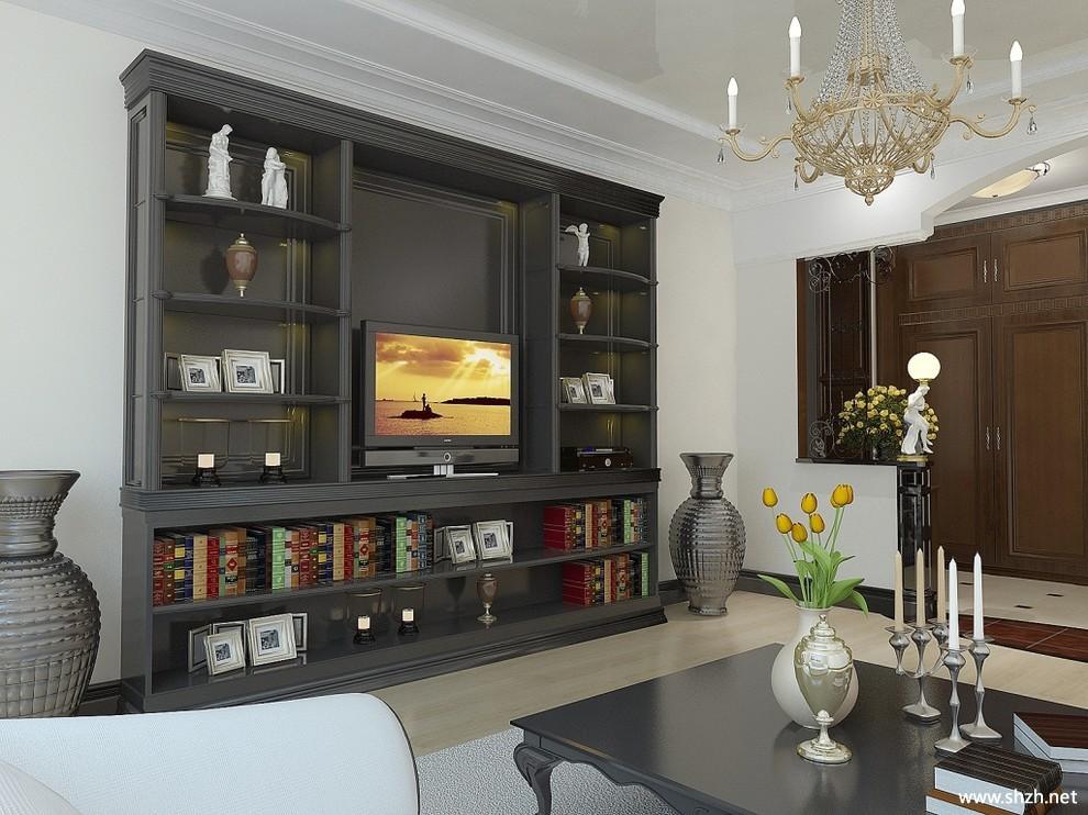 现代简约另类客厅电视柜书架/书柜效果图