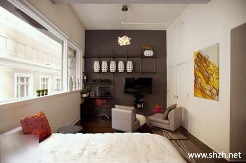 卧室电视背景墙-上海装潢网