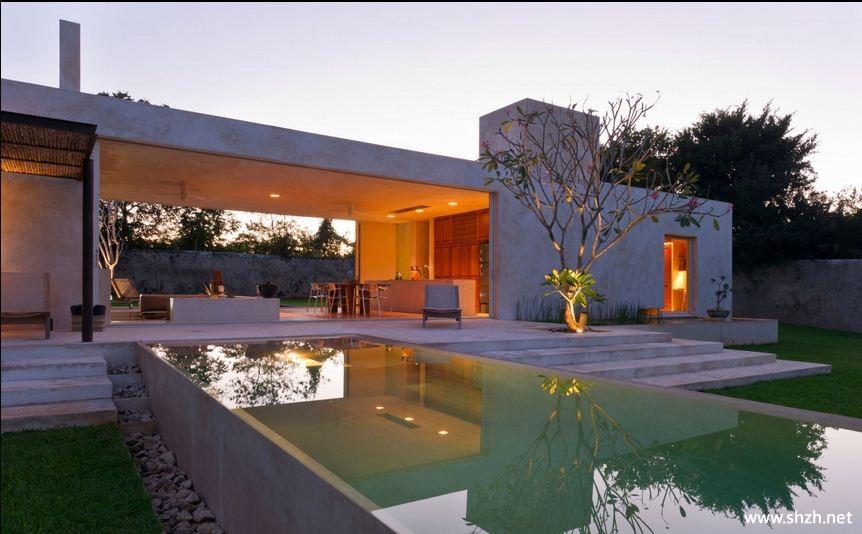 现代别墅花园效果图
