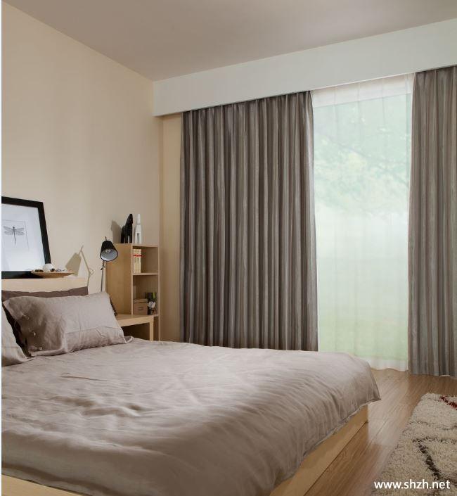 美式简约卧室窗帘效果图