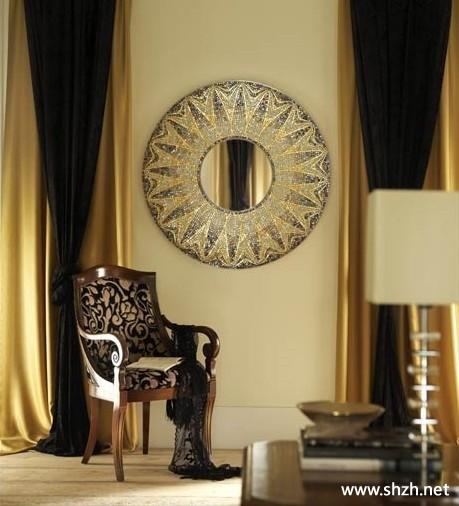 欧式古典豪华客厅背景墙效果图-上海装潢网