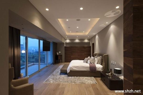 欧式卧室家具床窗帘地毯实景图