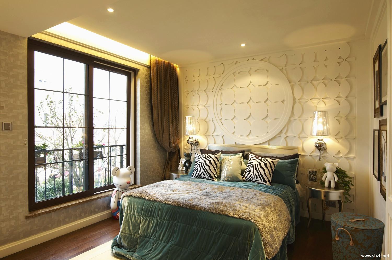 东南亚卧室床效果图