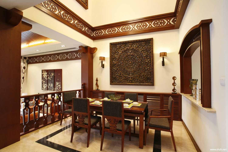 东南亚泰式炫彩咖啡厅.效果图图片