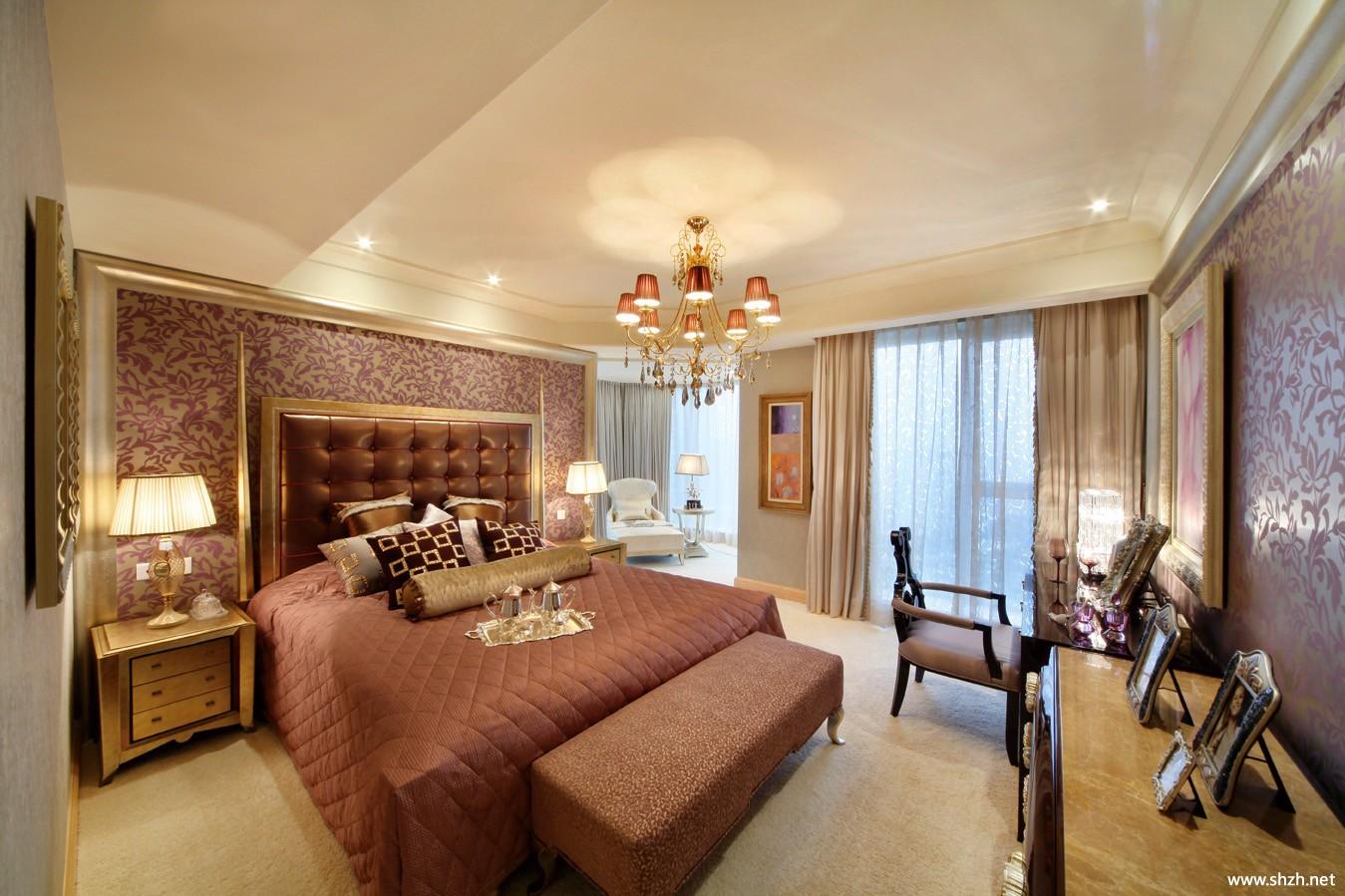 古典卧室吊顶效果图-上海装潢网