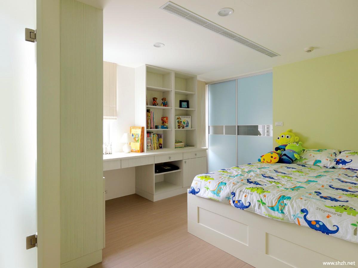 简约卧室吊顶效果图-上海装潢网