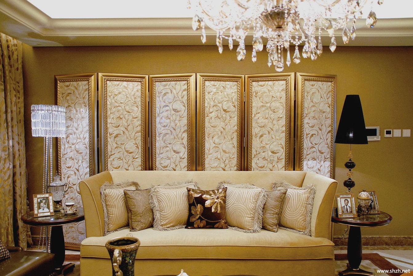 客厅背景墙效果图-上海装潢网