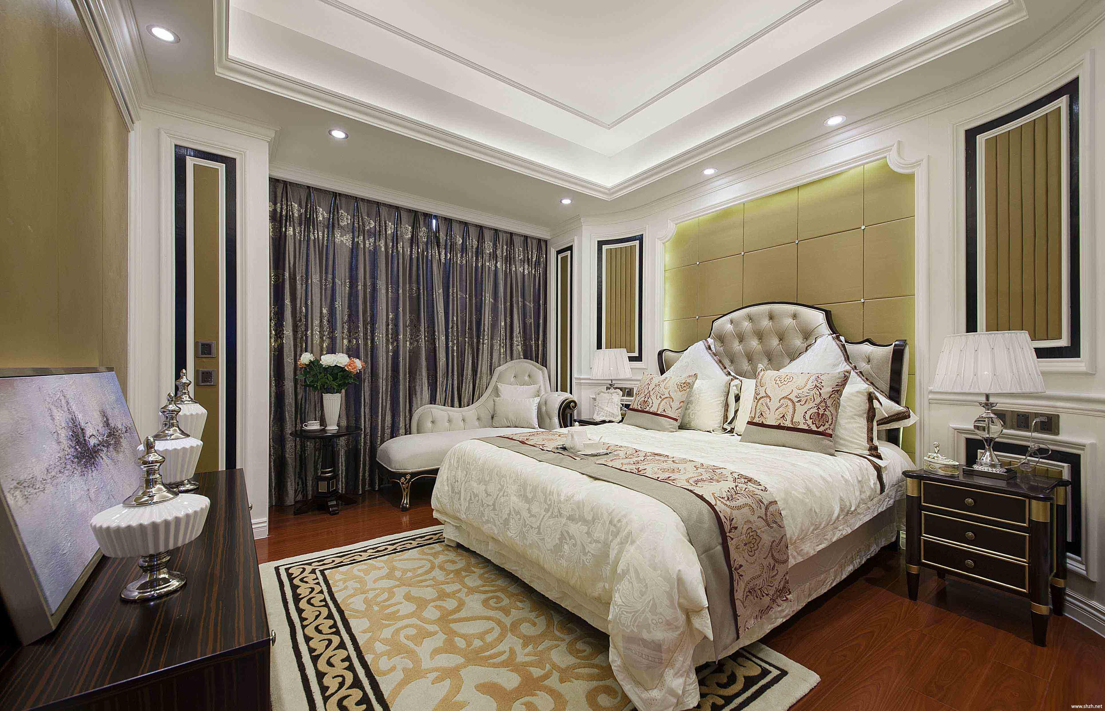 欧式卧室床效果图-上海装潢网