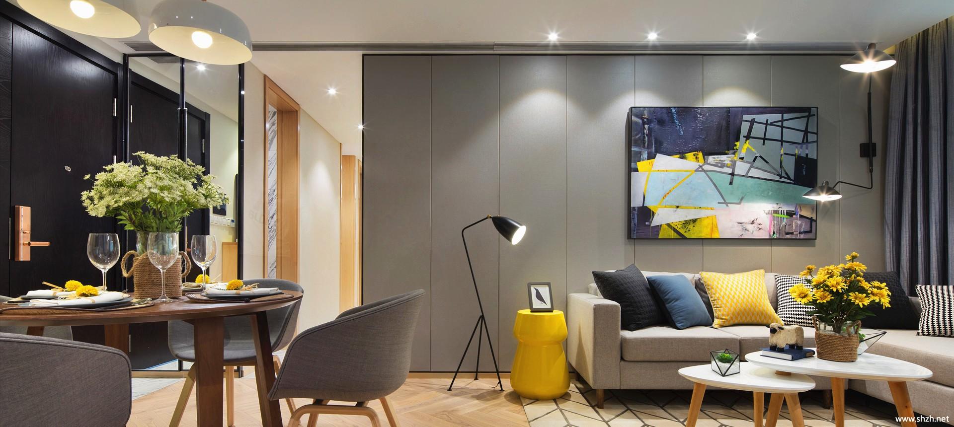 现代客厅沙发茶几效果图