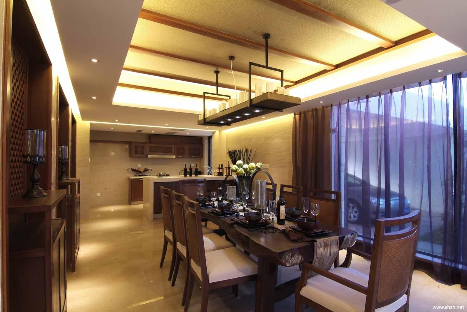 中式餐厅餐桌效果图