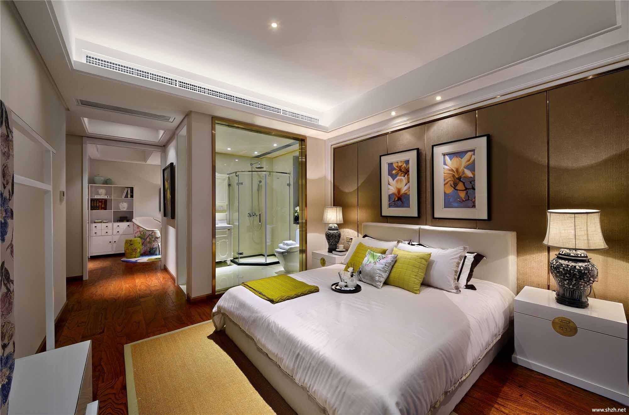 中式卧室床效果图