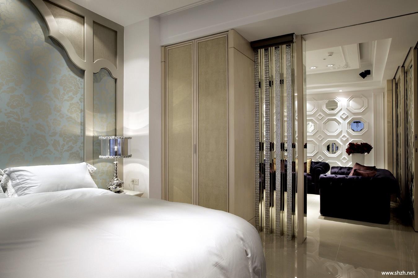 欧式别墅卧室床