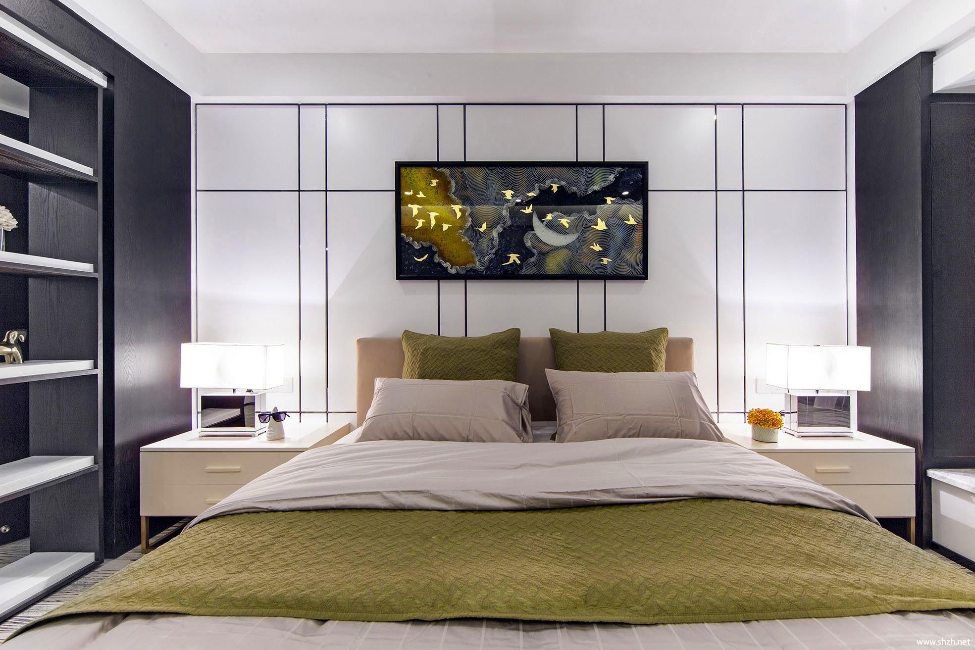 现代卧室床效果图