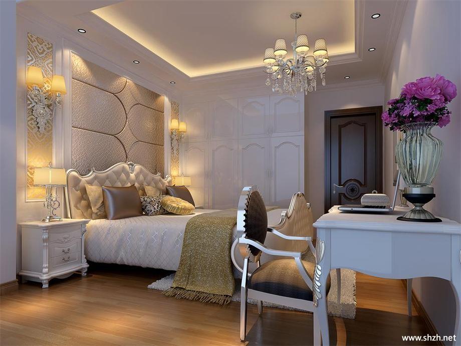 欧式卧室吊顶效果图-上海装潢网