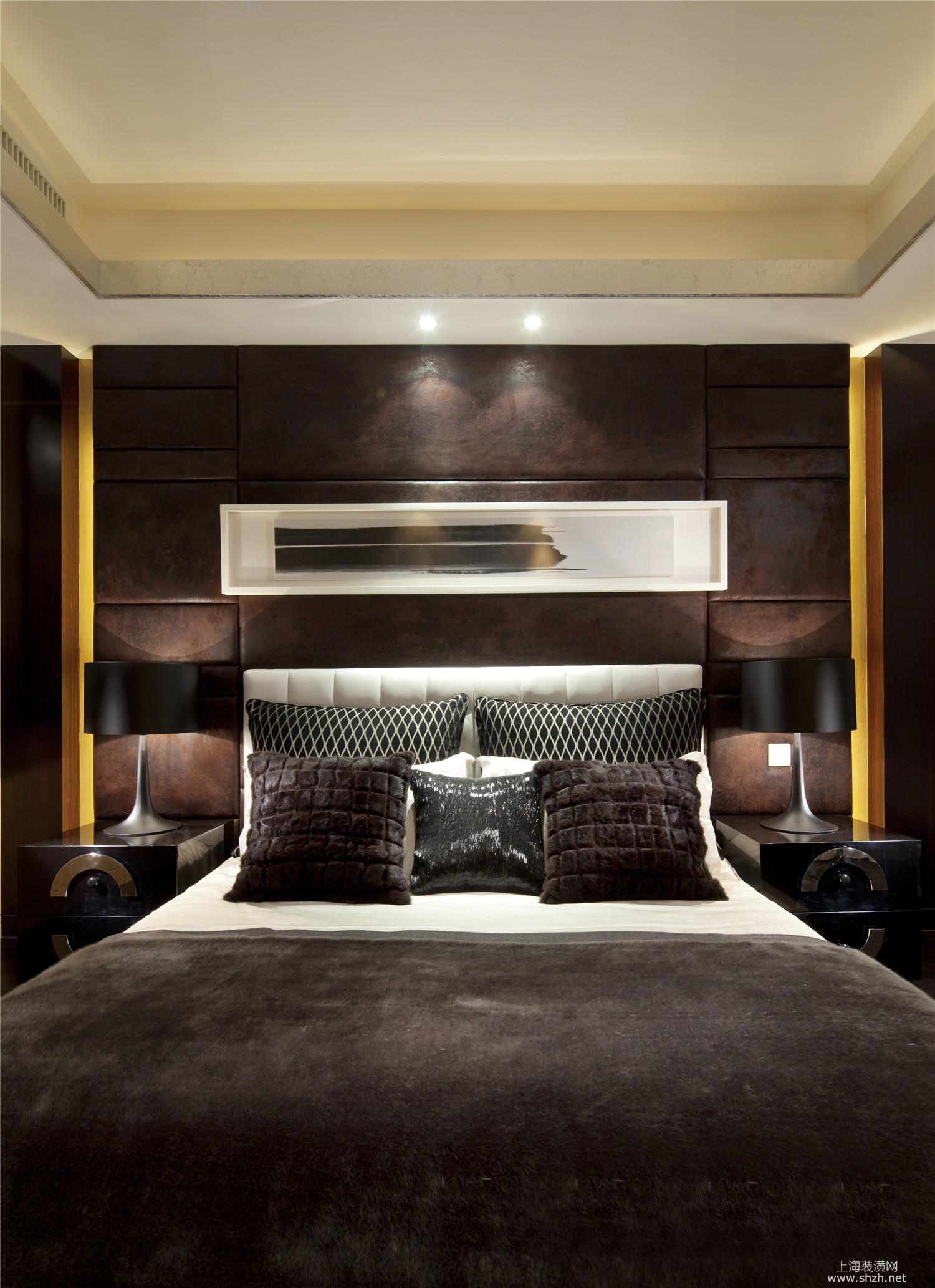 卧室飘窗窗帘-上海装潢网