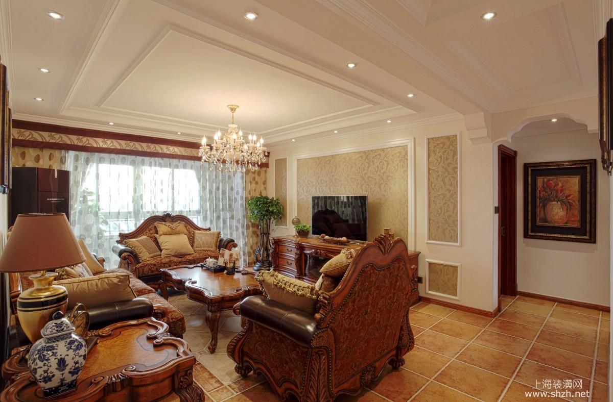 欧式风格电视背景墙-上海装潢网
