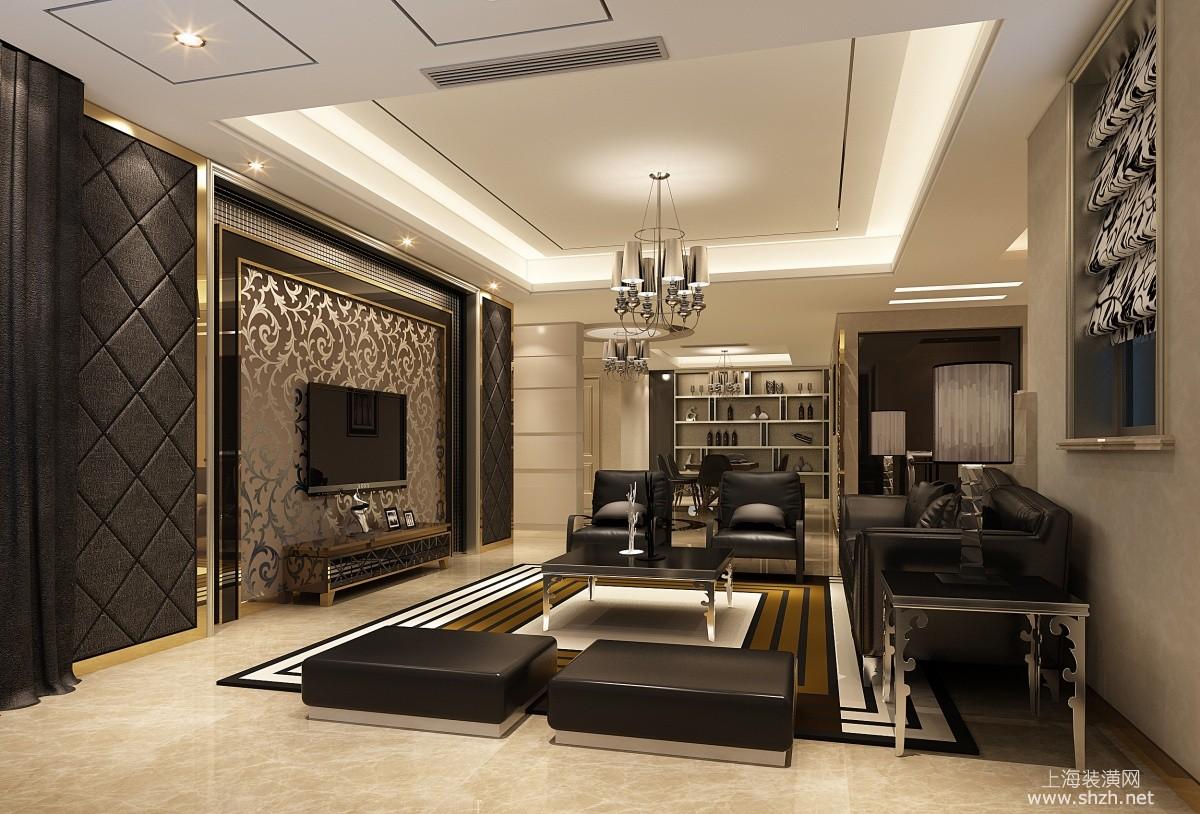 欧式豪华风格电视背景墙