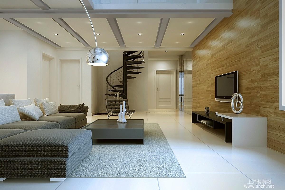 背景墙既环保又美观,白色瓷砖地板衬托的干净时尚