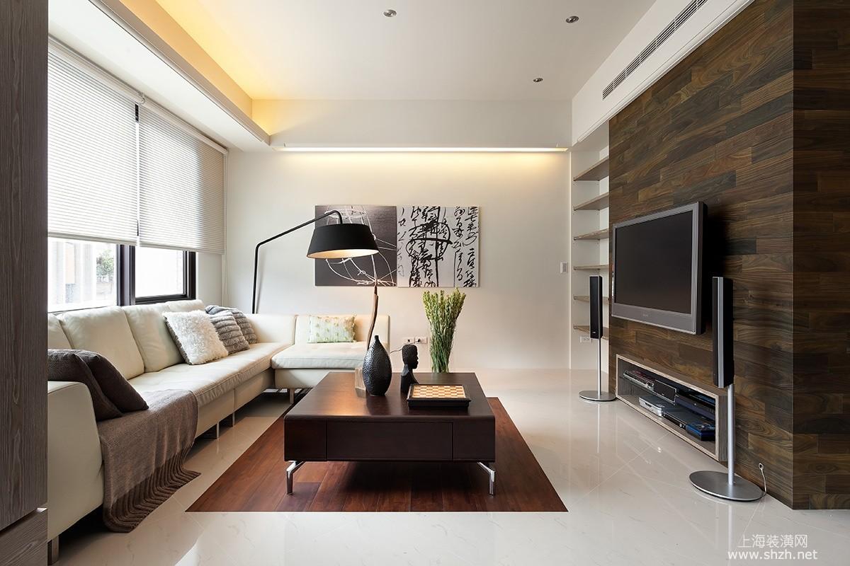 现代风格电视背景墙_现代简约风格电视背景墙-上海装潢网