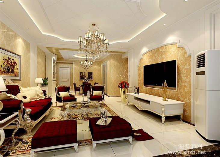 装修图库 欧式风格  浏览数: 151 欧式客厅的整体设计打造出大方,富贵