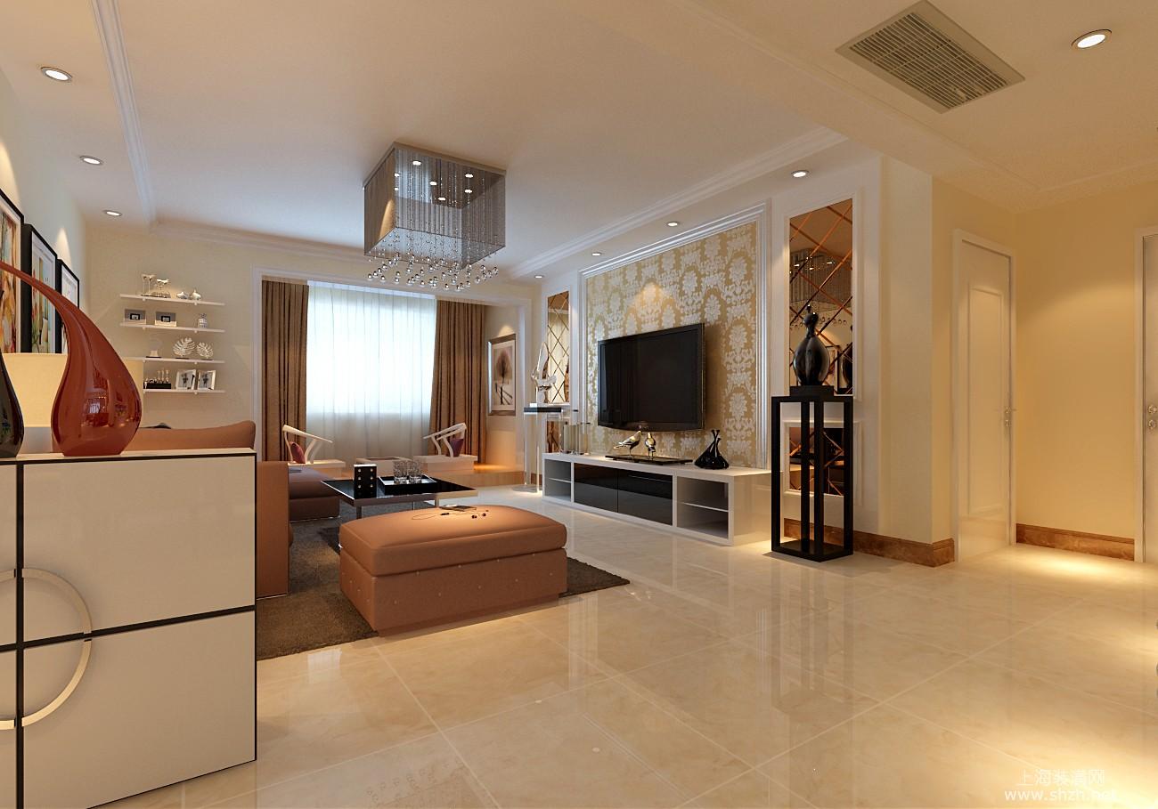 120平现代风格客厅设计效果图