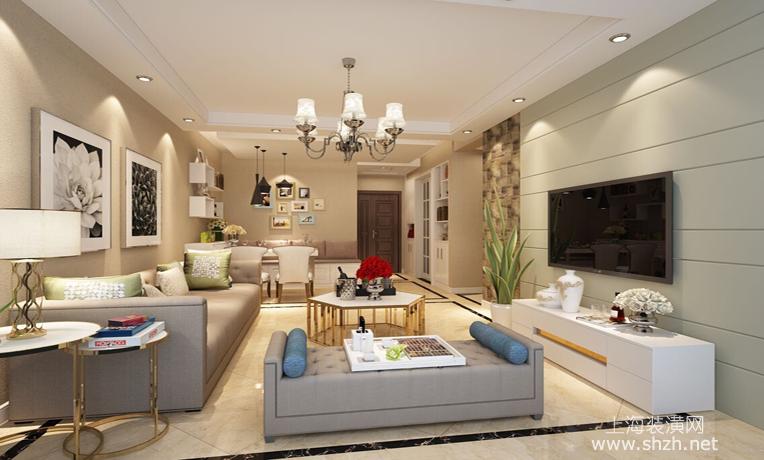 92平现代简约风格客厅装修设计