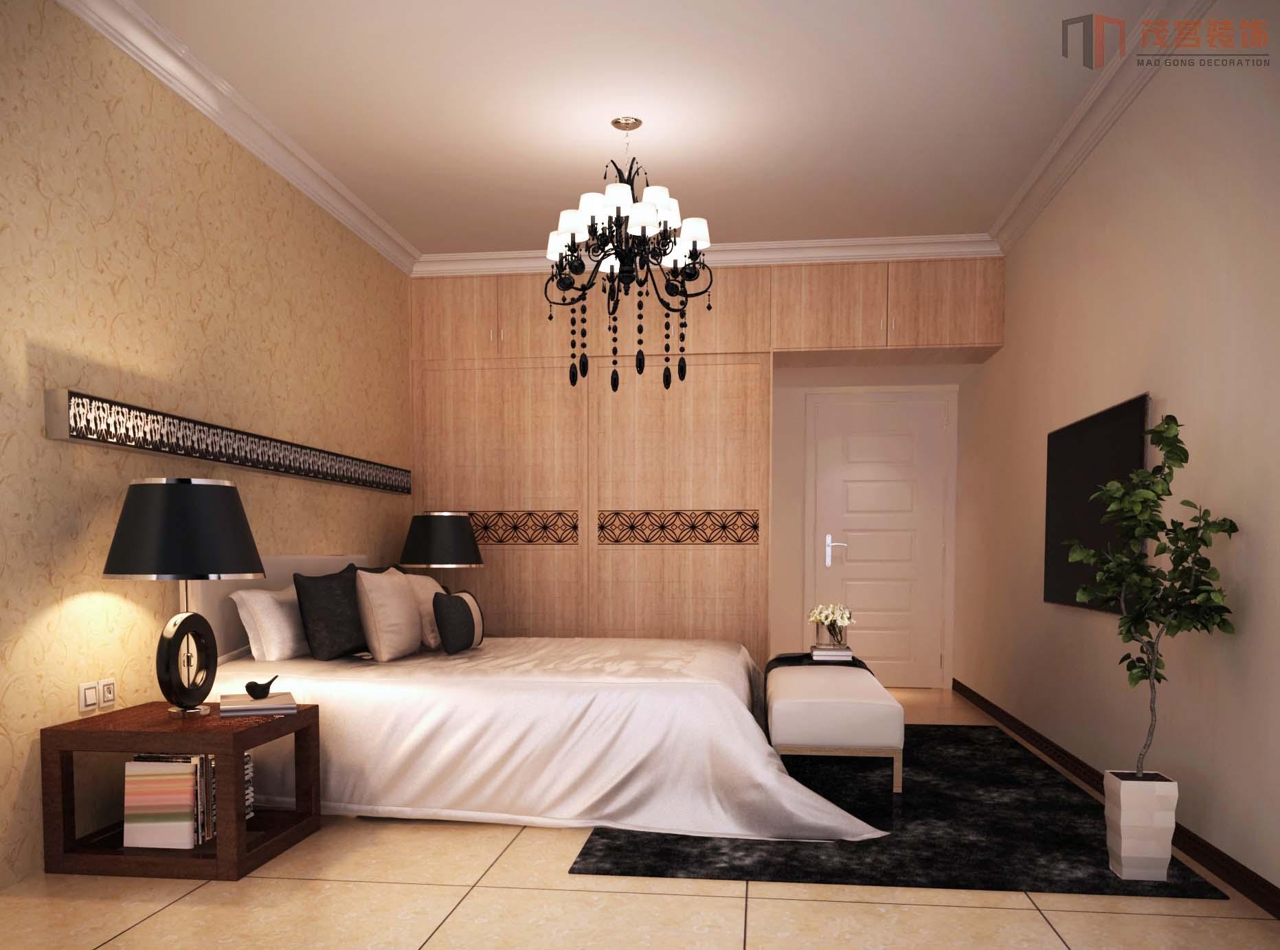 两层现代别墅 次卧设计