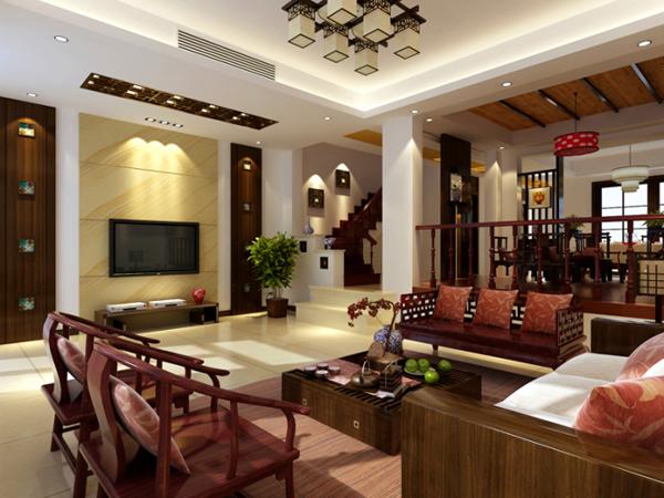 中式风格-上海群升室内装饰设计有限公司-上海装潢网