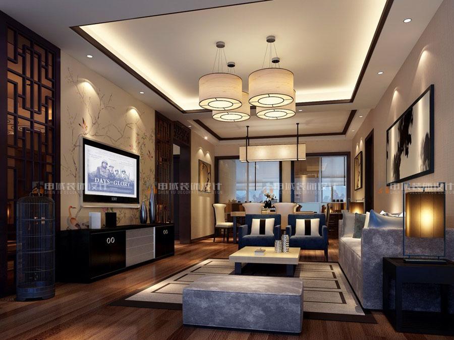 新中式别墅设计-上海申域装饰设计工程有限公司-上海