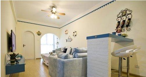80平方米房子装修图吹地中海风