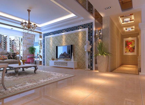 现代简约风格客厅背景墙设计