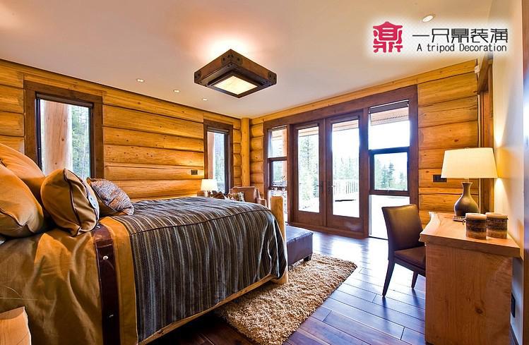 木屋卧室俯视图