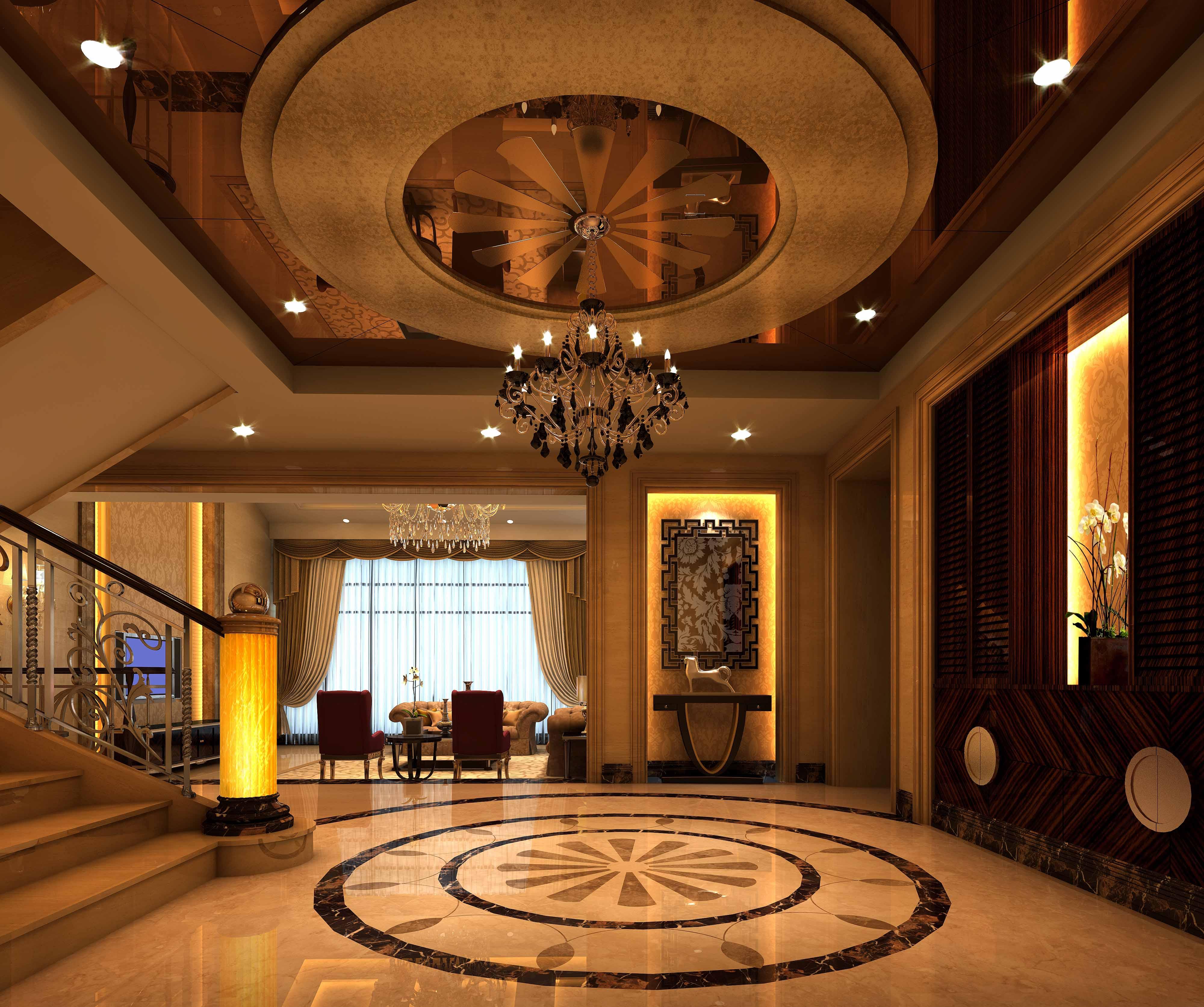 首页 上海知惠建筑装饰工程有限公司 案例展示 御景园欧式别墅设计