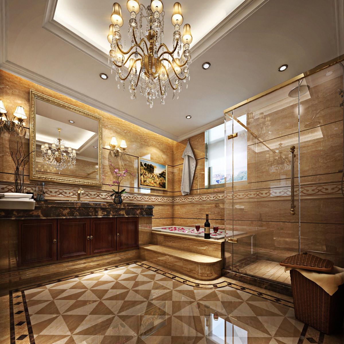 保利叶语别墅装修美式混搭风格设计方案展示,上海腾龙别墅设计师任