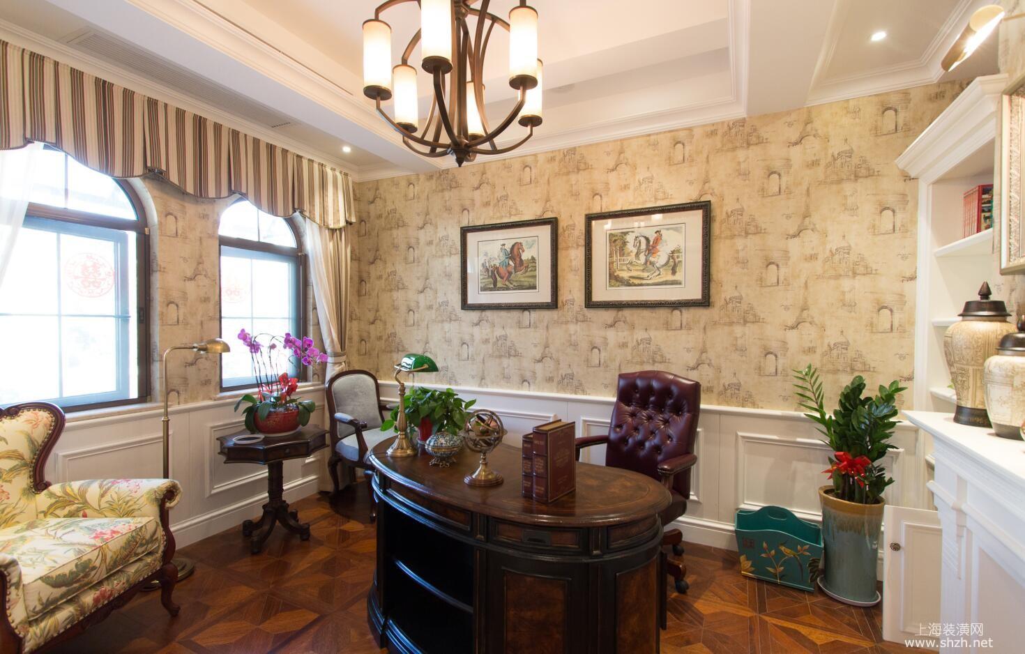 凯迪赫菲庄园别墅装修欧美风格完工实景展示,上海腾龙别墅设计