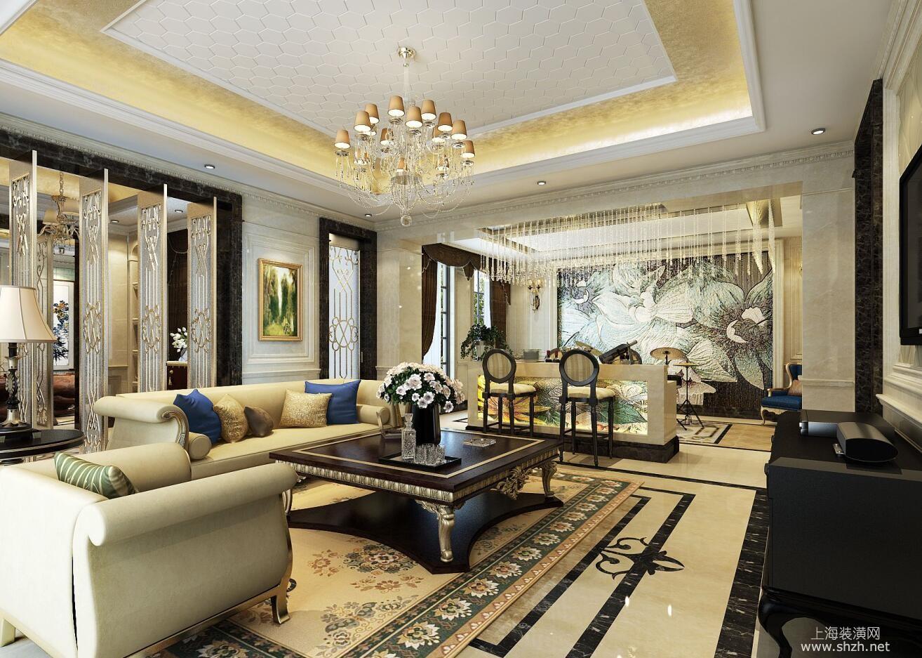 绿地海珀晶华别墅装修欧式古典风格设计