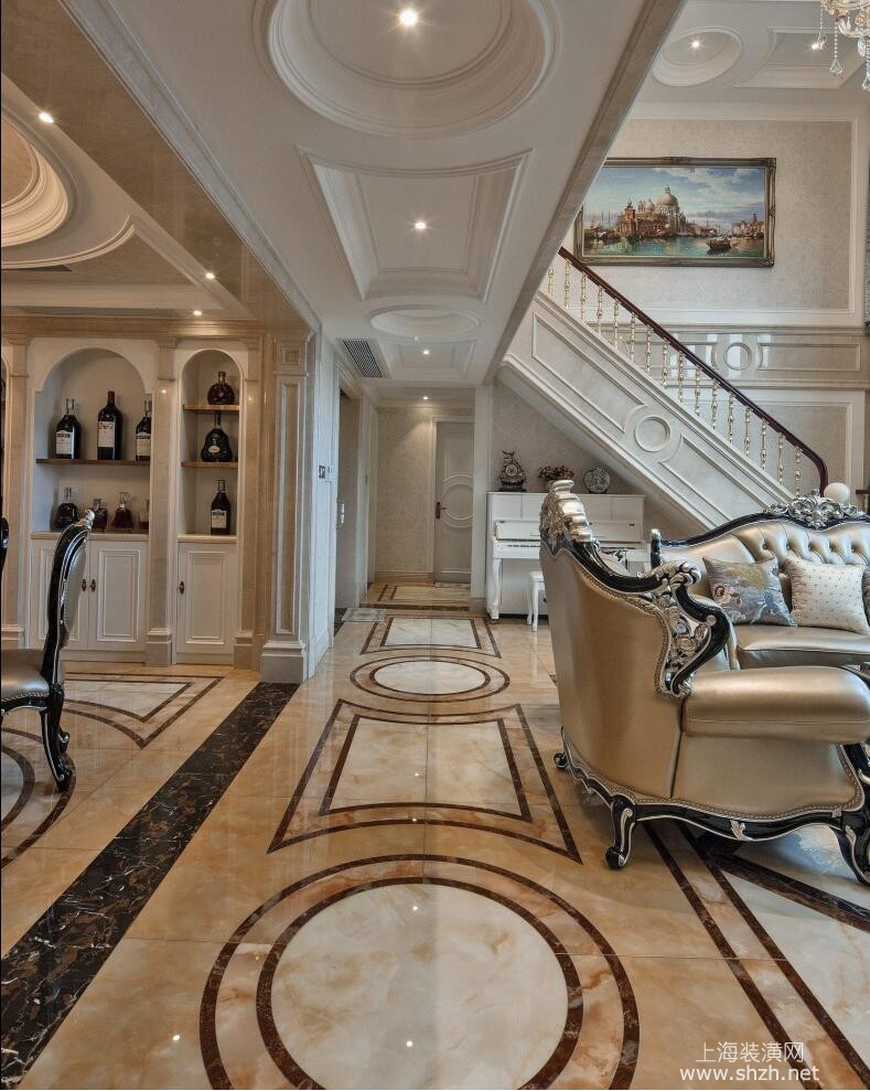 御翠园别墅装修欧式古典风格设计,上海腾龙别墅设计