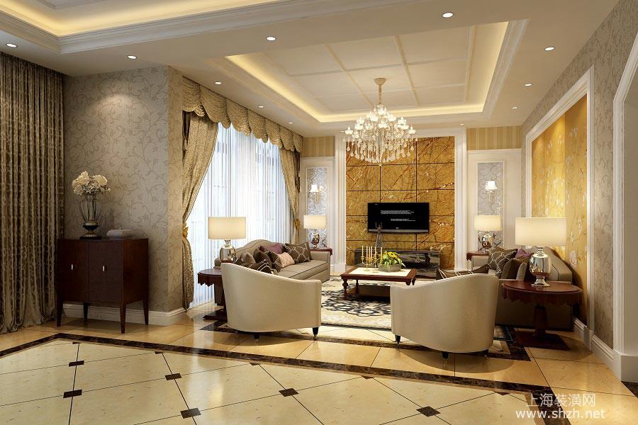 美兰湖中华园新古典风格案例欣赏客厅.jpg