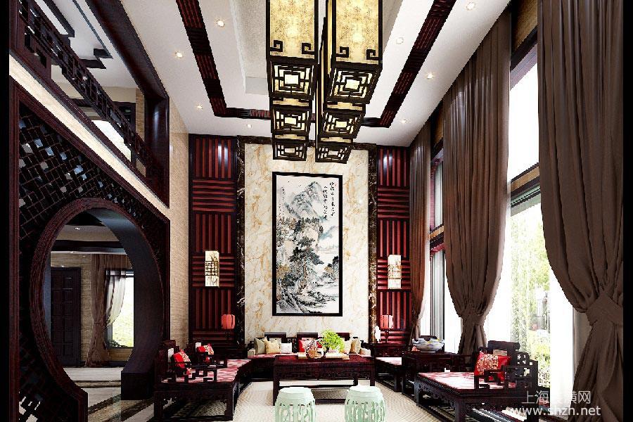 桃花源别墅新古典风格案例欣赏客厅2.jpg