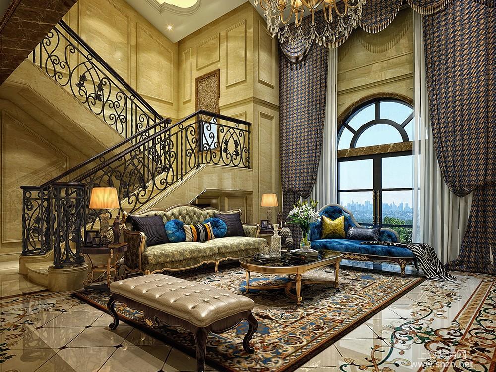 凯迪赫菲庄园别墅装修欧式古典风格设计,上海腾龙别墅设计作品,欢迎
