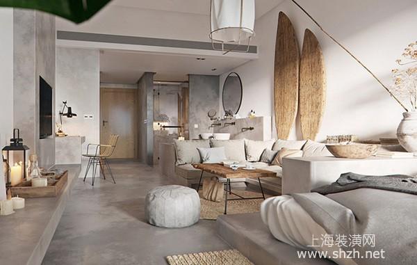 60平米南洋慵懒风小户型装修:居家空间拥有度假氛围