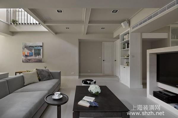 旧房翻新遇到顶梁较低怎么办,巧用色块化解低梁压迫难题