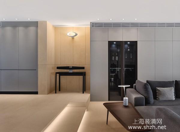 极简风装修案例:家居用色分明和谐,大理石展质朴之美