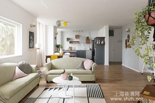 90平现代风格装修案例:采光好,享受清新悠闲的生活
