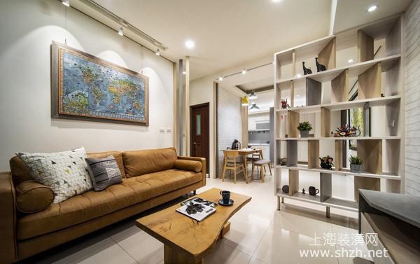 两房两厅北欧风格装修设计案例:满屋自然采光休闲空间