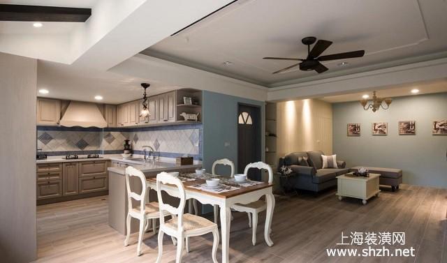 三室兩廳美式鄉村風裝修案例:自然舒適質感,充足收納設計