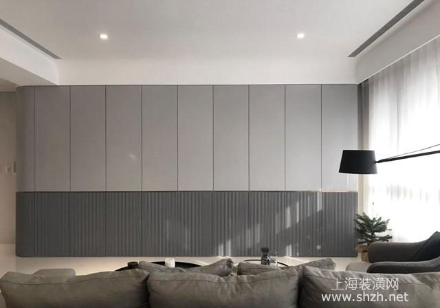 高質感灰+雙色墻設計,精致品味現代風格住宅裝修案例