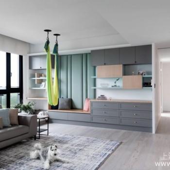 混搭风格|装修案例:湖水绿搭配木质调订制出突破风格框架的高机能宅邸