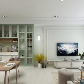 100平米美式风格装修案例:莫兰迪绿搭配时尚更衣室创造细致居家质感