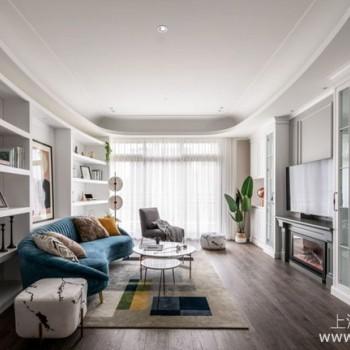 乡村风格装修设计案例:多元材质特色混搭营造甜美豪宅感受